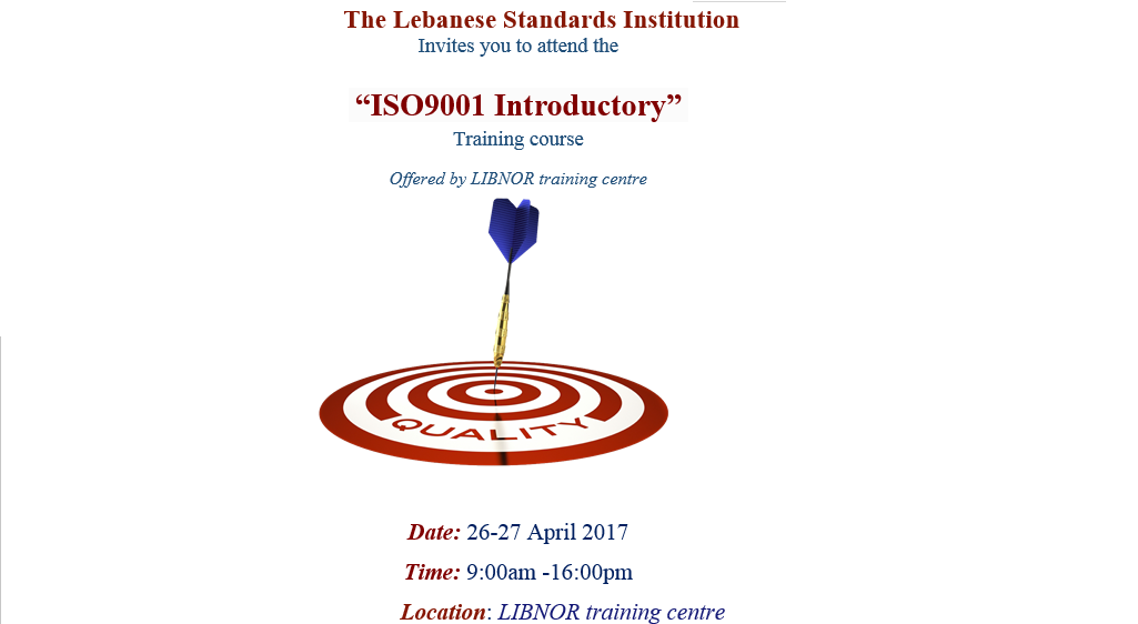 Training Course ISO 9001 Introductory